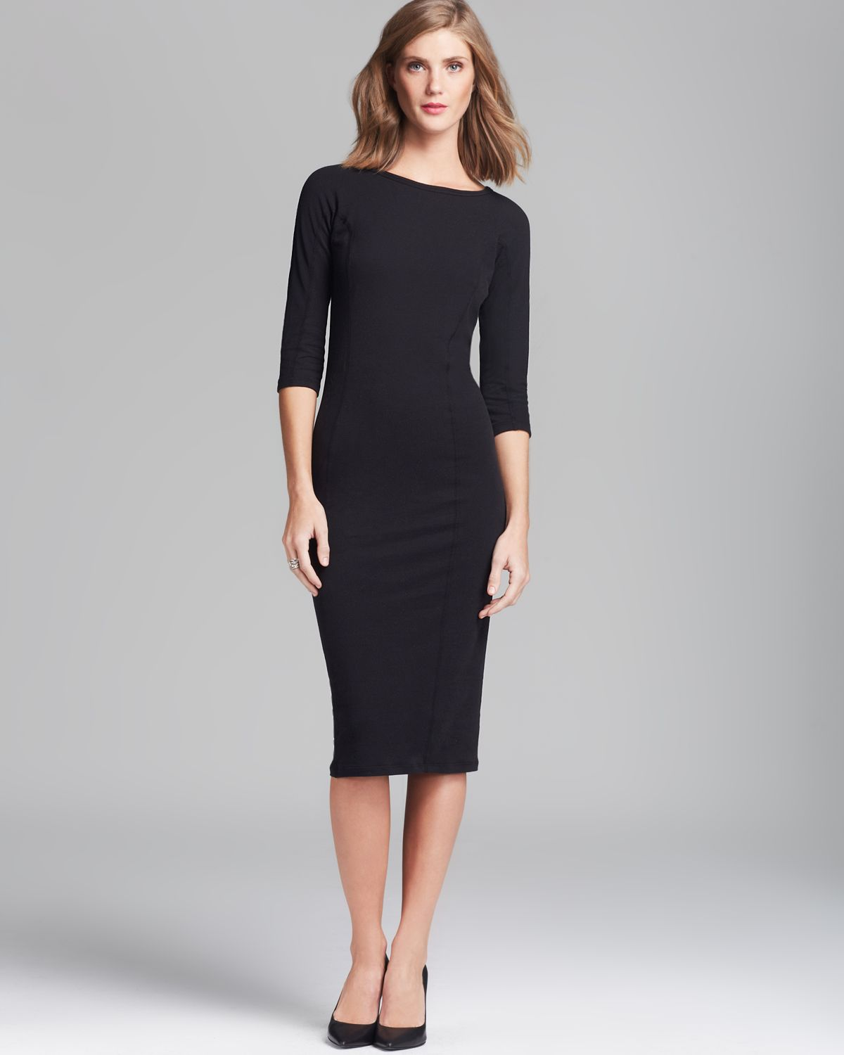 Lyst James Perse Dress Side Panel Skinny In Black