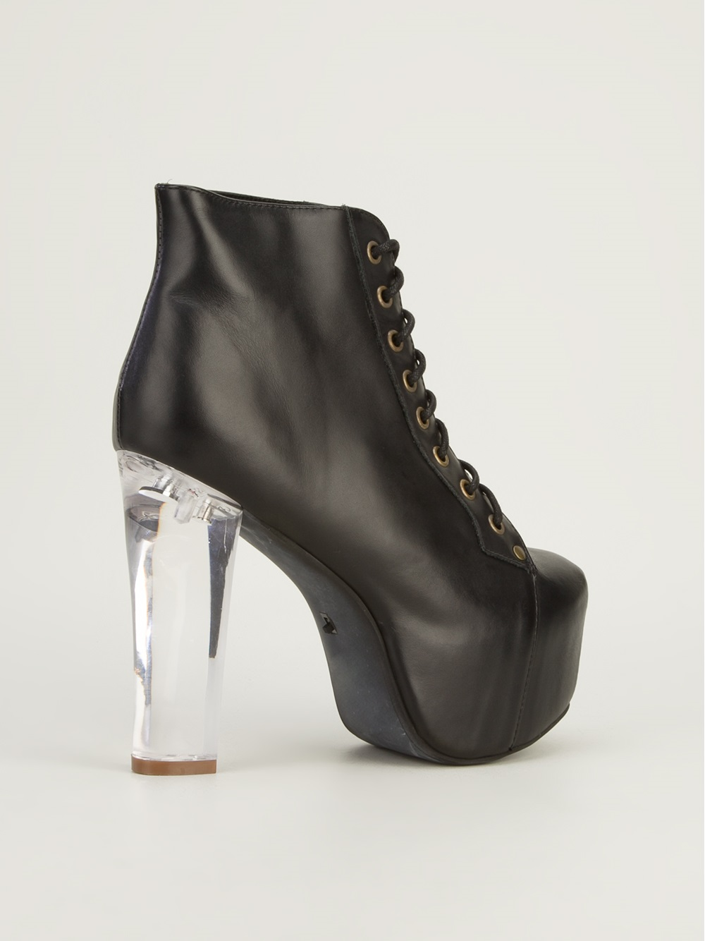 Jeffrey Campbell Lita Light Laceup Boot In Black Lyst