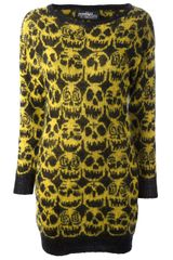 Jeremy Scott Skull Print Dress - Lyst