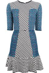 M Missoni Flared Mixed Print Dress - Lyst