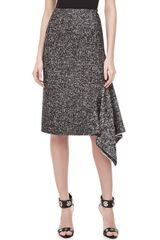 Michael Kors Herrinbone Assymetric Skirt - Lyst