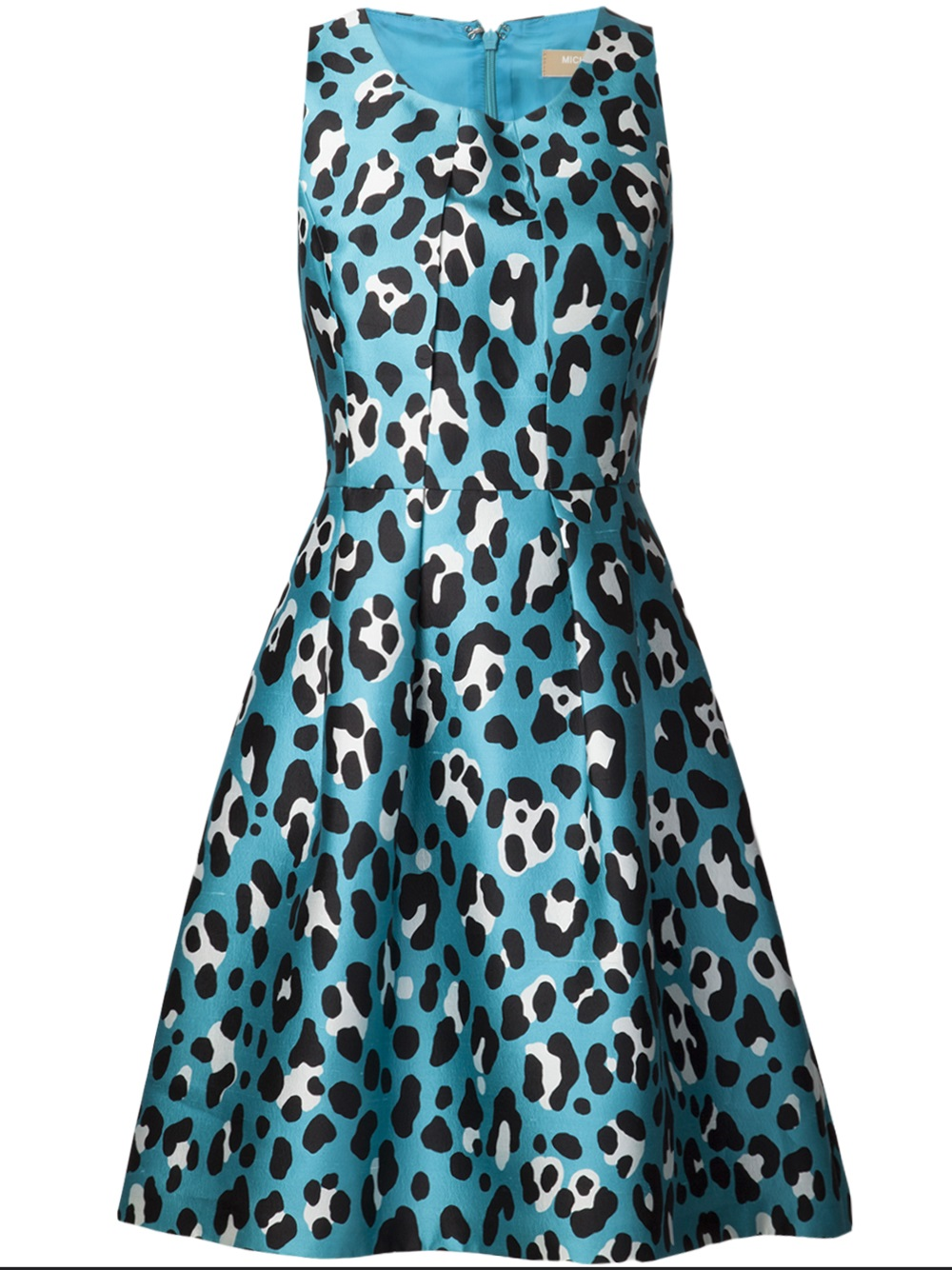 Michael Kors Bell Leopard Print Dress In Blue Lyst