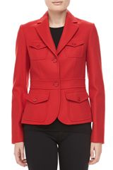 Michael Kors Felted Wool Travel Jacket Crimson - Lyst