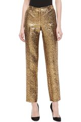 Michael Kors Samantha Pebble Brocade Skinny Pants - Lyst