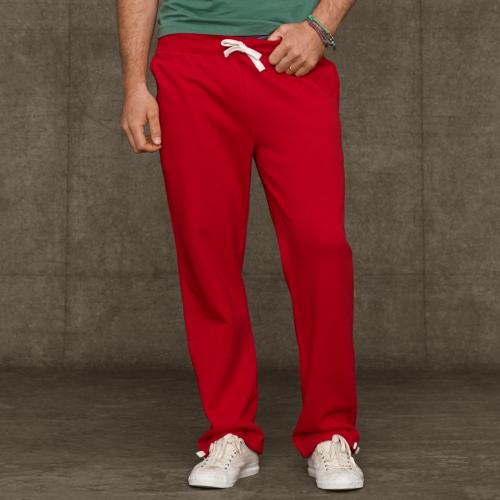 Lyst Polo Ralph Lauren Fleece Athletic Pant In Red For Men