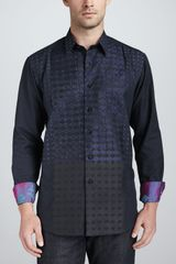 Robert Graham Traveling Jay Jacquard Sport Shirt Black - Lyst