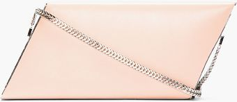 Saint Laurent Pale Pink Leather Diagonal Box Clutch - Lyst