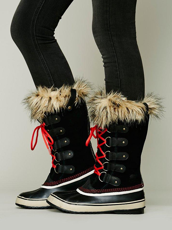 lyst sorel joan of arctic boot in red. Black Bedroom Furniture Sets. Home Design Ideas