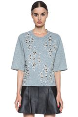 3.1 Phillip Lim Embellished Cropped Box T - Lyst