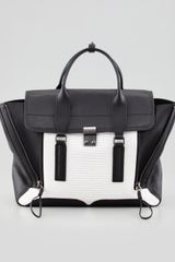 3.1 Phillip Lim Pashli Colorblock Satchel Bag Whiteblack - Lyst