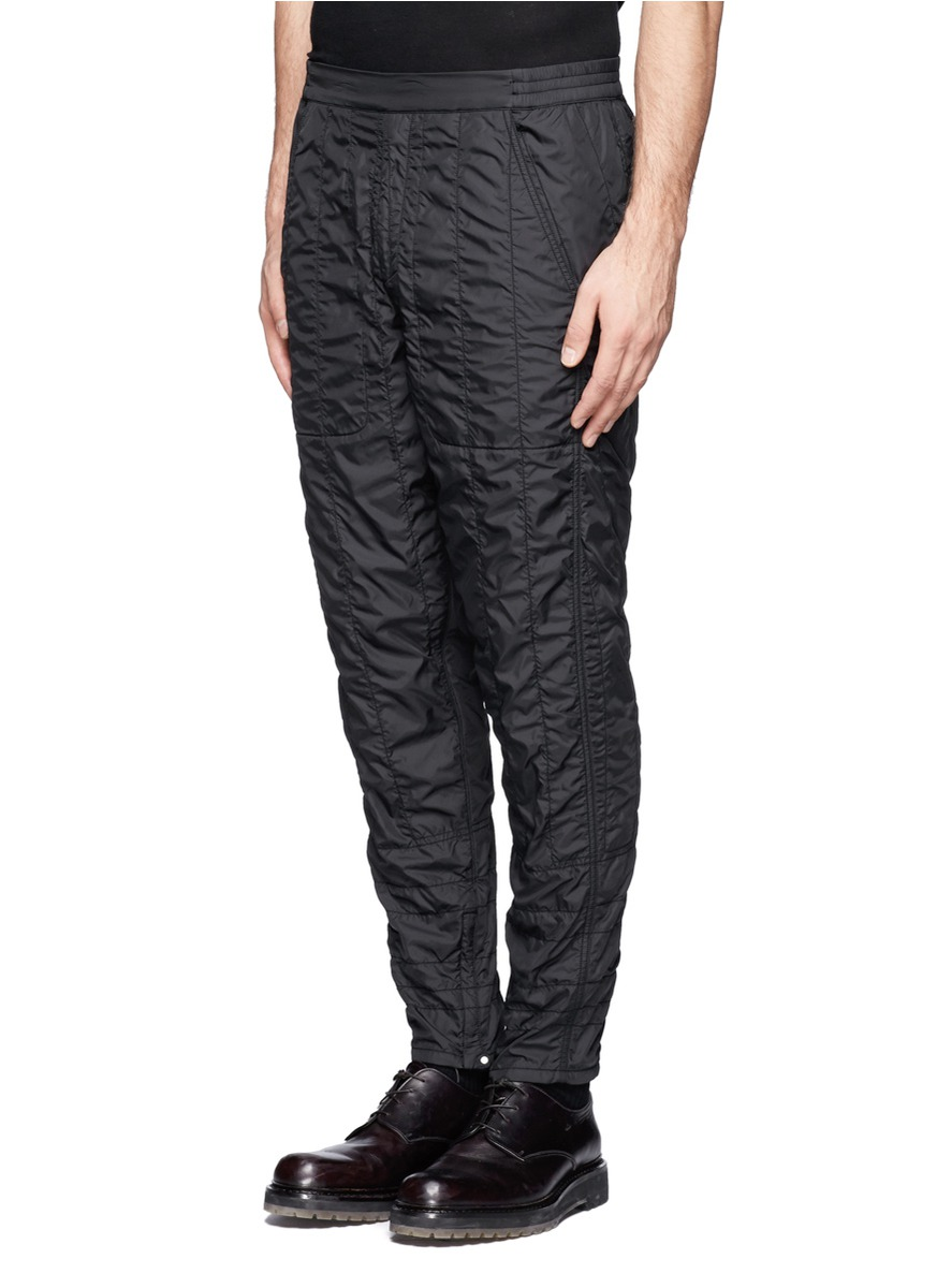 Lyst Alexander Wang Quilted Jogging Pants In Black For Men