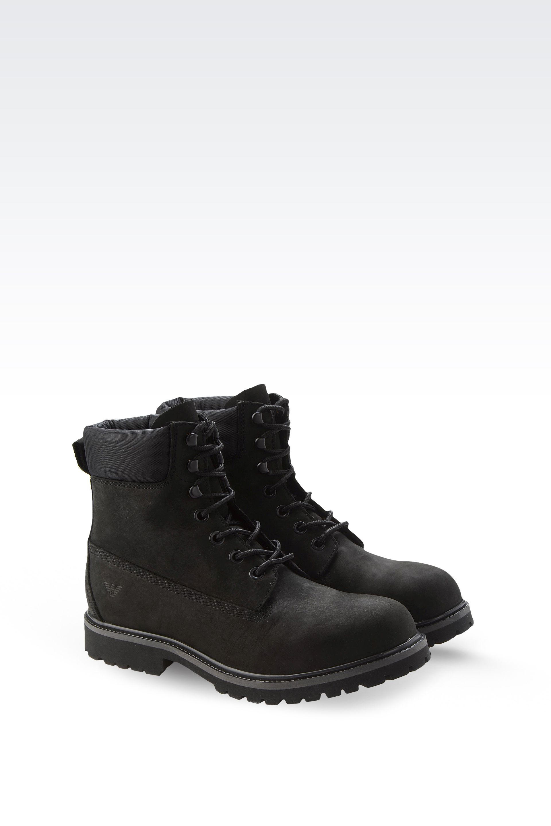 Armani jeans Combat Boots in Black for Men | Lyst
