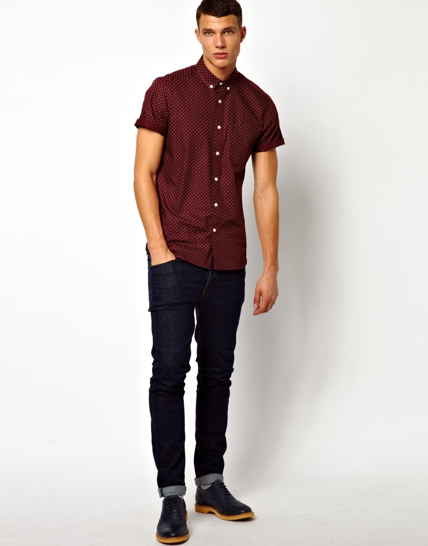 Mens Burgundy Shirt Photo Album - Fashion Trends and Models
