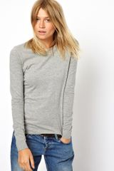 Asos Long Sleeve Top with Crew Neck - Lyst