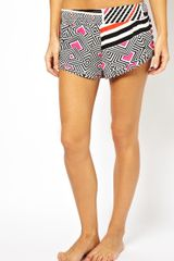 Asos Magic Geo Print Beach Shorts - Lyst