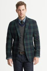 Banana Republic Modern Fit Plaid Wool Blazer Blackwatch Navy - Lyst