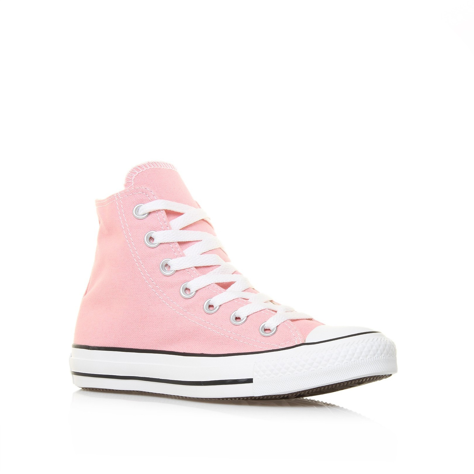 Converse Chuck Taylor All Star Hi In Pink Pink Canvas Lyst