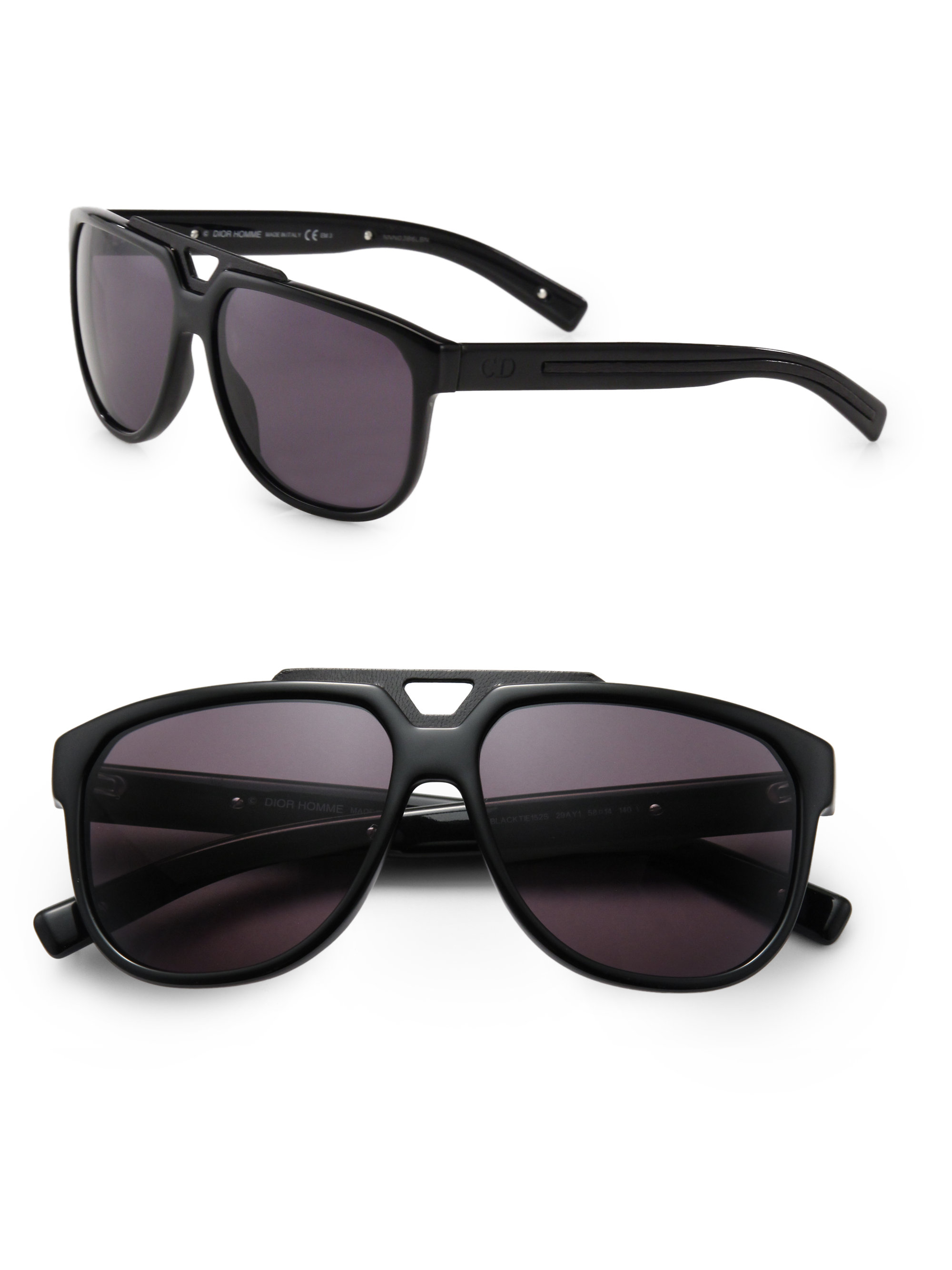 0e7cf123d78af Dior Homme Acetate Navigator Sunglasses in Black for Men - Lyst