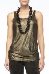 Eileen Fisher Sleeveless Long Shimmery Tank Petite - Lyst