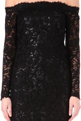 Emilio Pucci Off-The-Shoulder Lace Dress - Lyst