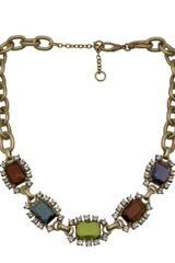 Gerard Yosca Square Jewels Necklace - Lyst