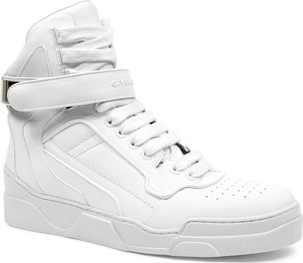 Givenchy Leather Hightop Trainers - Lyst