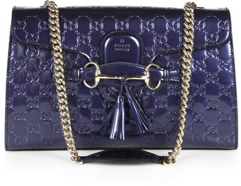 Gucci Emily Shine Ssima Leather Chain Shoulder Bag - Lyst