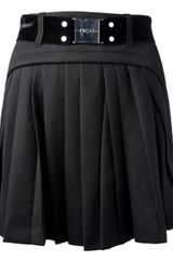 High Pleated Skirt - Lyst