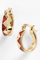 House Of Harlow Zigzag Enamel Hoop Earrings - Lyst