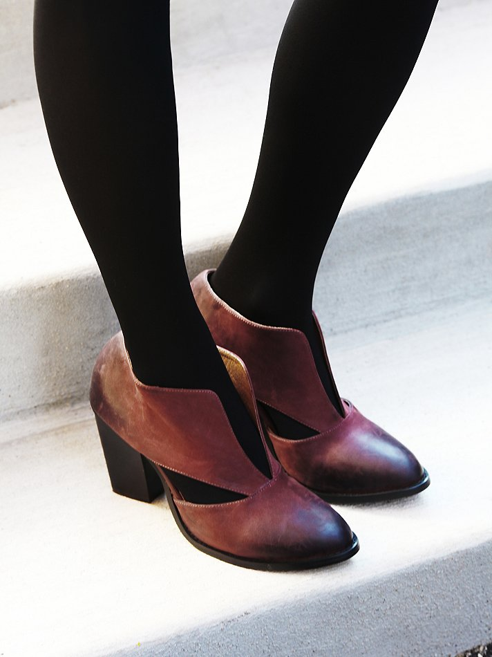 28fa67a0d Free People Deep V Ankle Boot in Red - Lyst