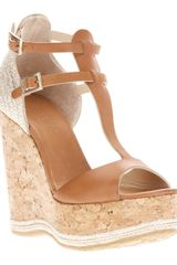 Jimmy Choo Preya Wedge Sandal - Lyst