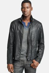 John Varvatos Resin Coated Linen Jacket - Lyst