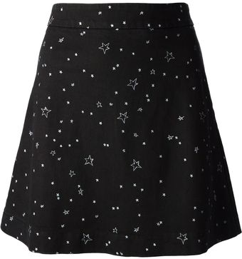 Lulu & Co Star Print Skirt - Lyst