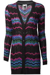 M Missoni Long V-Neck Cardigan - Lyst