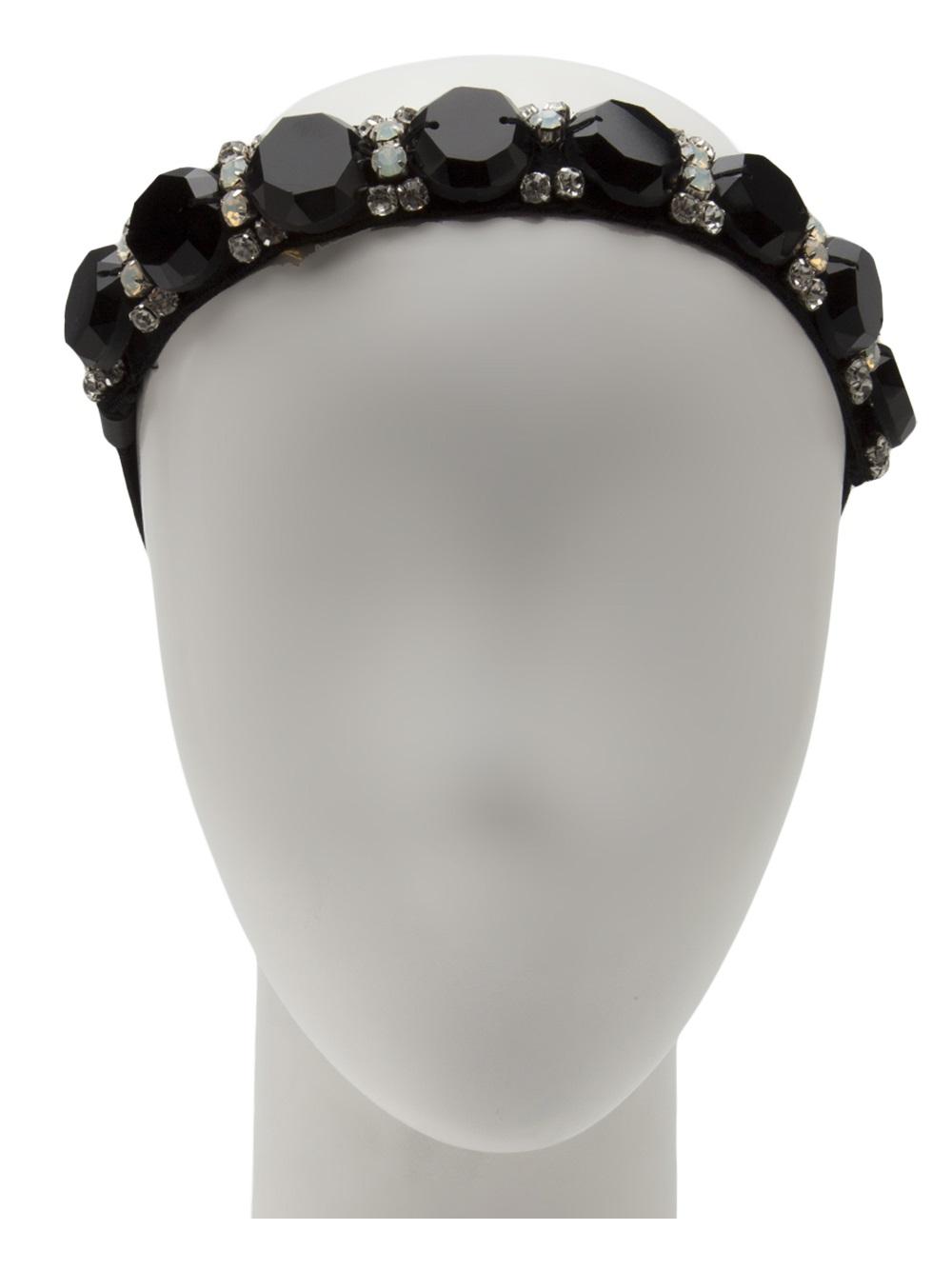 Marni Sequin Headband in Black - Lyst f0927df780d
