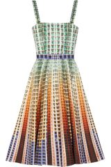 Mary Katrantzou Suddenly Printed Cottonpiqué Dress - Lyst