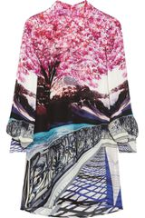 Mary Katrantzou Printed Silk Shirt Dress - Lyst