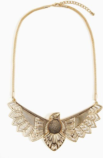 Nasty Gal Grand Wingspan Necklace - Lyst