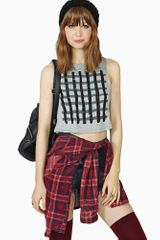 Nasty Gal Off The Grid Crop Tank - Lyst