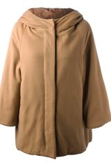 P.a.r.o.s.h. Hooded Cape Style Coat - Lyst