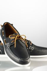 Ralph Lauren Telford Ii Leather Boat Shoe - Lyst