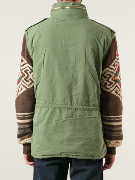 Ralph Lauren Sleeveless Military Jacket In Green For Men