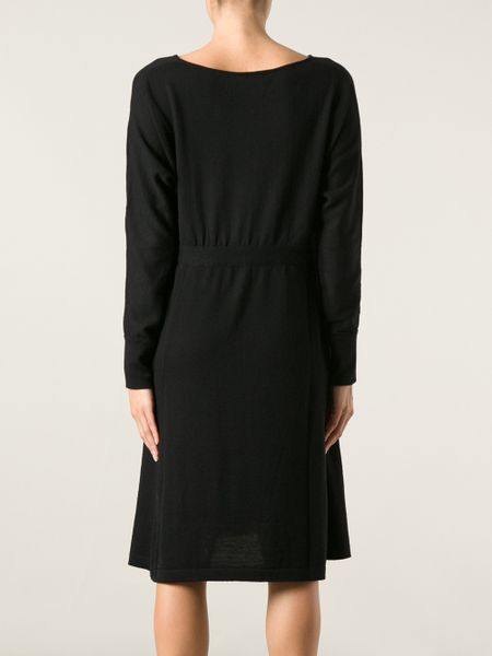societe anonyme loose fit sweater dress in black lyst
