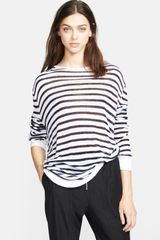 T By Alexander Wang Long Sleeve Stripe Tee - Lyst