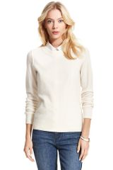 Tommy Hilfiger Pointelle Cashmere Crew Neck Sweater - Lyst
