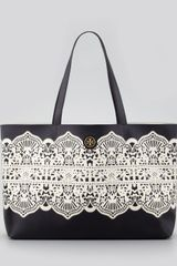 Tory Burch Kerrington Eastwest Tote Bag Black Lace - Lyst