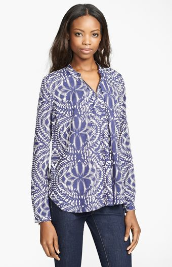Tracy Reese Silk Broadcloth Blouse - Lyst