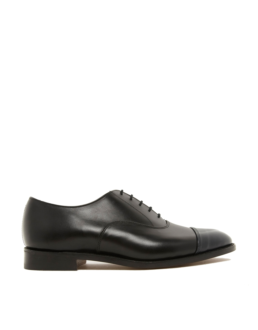 Appleton Cap-toe Leather Oxford Shoes - BlackTrickers fWe5tNTGS