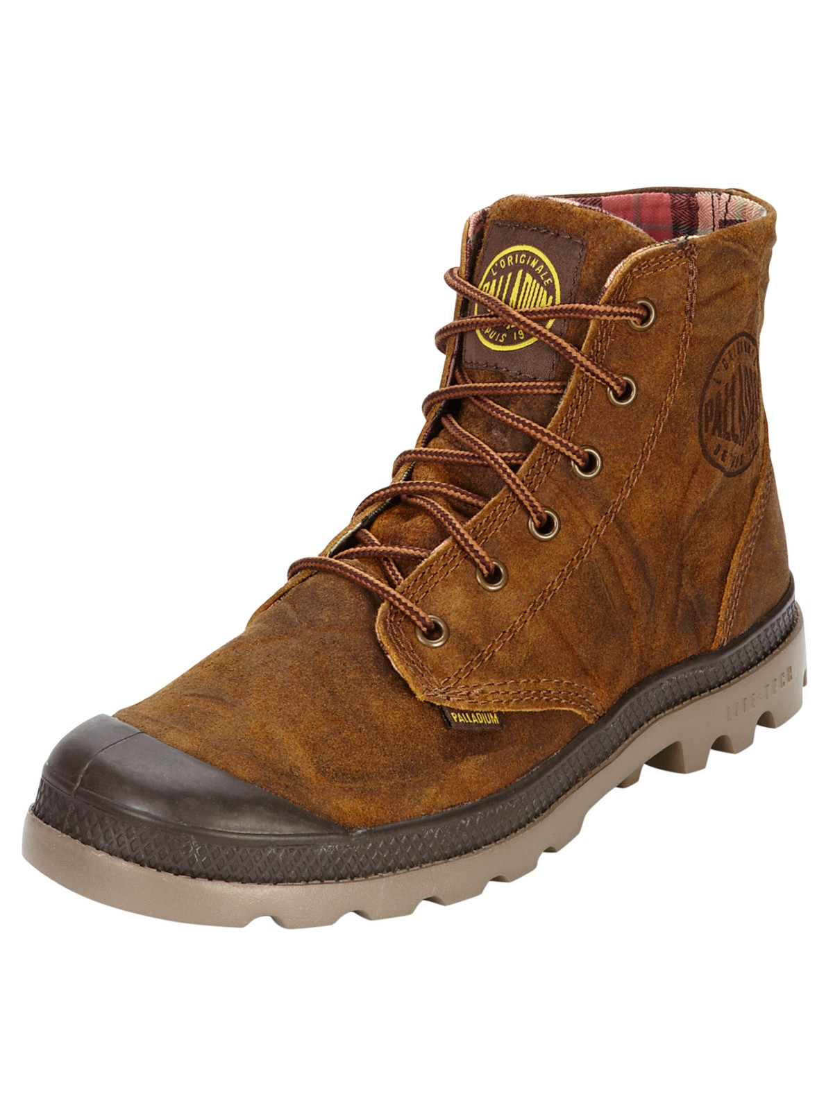 palladium palladium pa high lite leather boots in brown