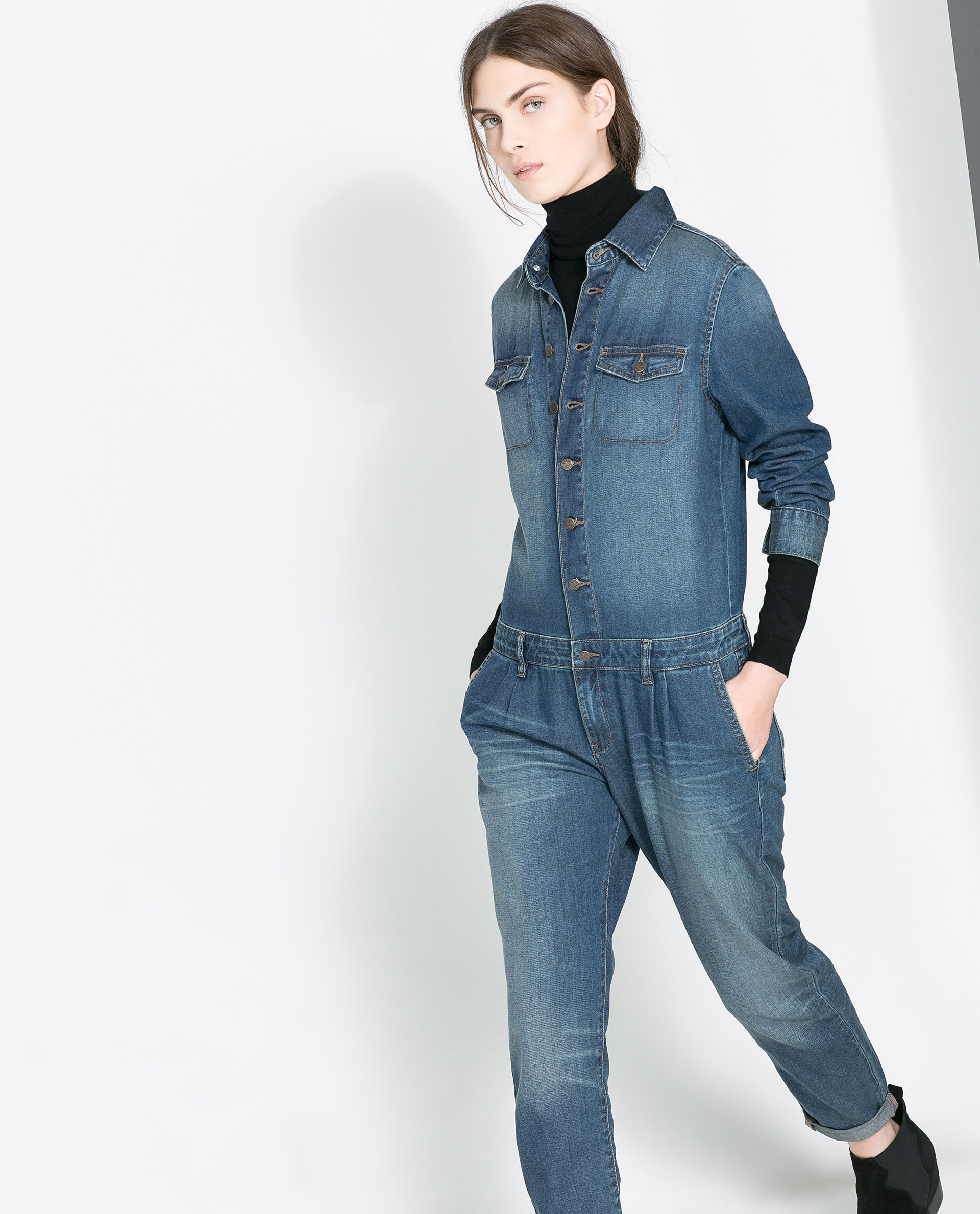 Denim Jumpsuits & Rompers. Denim jumpsuits and rompers are great options for the weekend and easily go from day to night with sexy heels or a cute cropped jacket.
